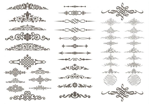 Design calligrafico e ornamento