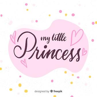 Sfondo rosa principessa calligrafica