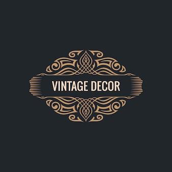 Cornice calligrafica vintage ornamento decorativo