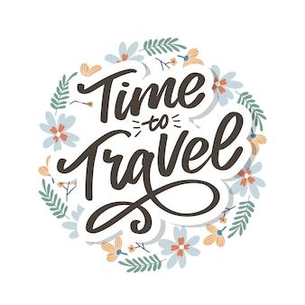Scrittura calligrafica lettering time to travel