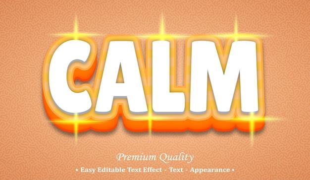 Calma effetto di stile di testo modificabile 3d