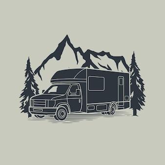 Logo vettoriale del furgone della camma