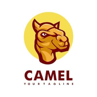 Concetto di logo di vettore del club atletico del cammello isolato su priorità bassa bianca