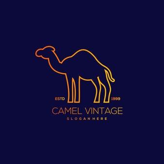 Illustrazione vintage di design della linea di cammello