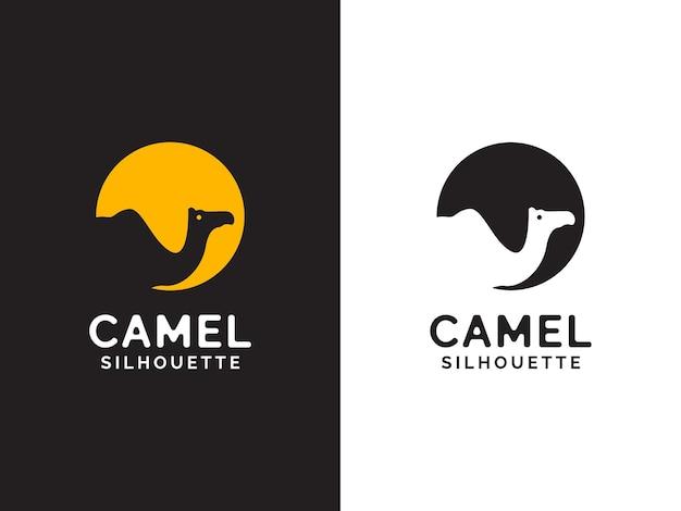 Concetto di logo cammello e luna