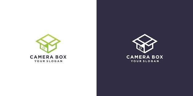 Design del logo della scatola della fotocamera
