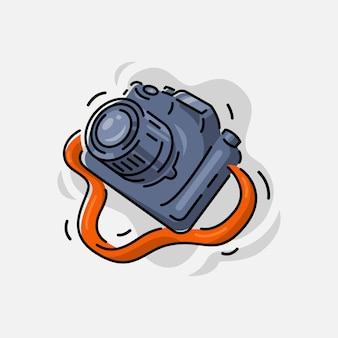 Clipart fotocamera isolato