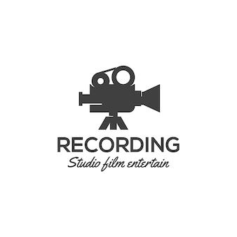 Modello di logo della pellicola della fotocamera