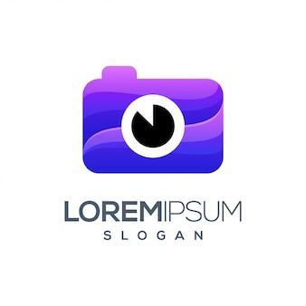 Logo a colori sfumati della fotocamera