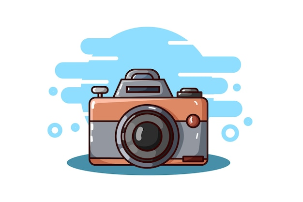 Fotocamera illustrazione disegno a mano