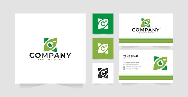 Ispirazione e biglietto da visita per il design del logo della fotocamera della fotocamera o della fotocamera della natura