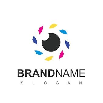 Logo dell'obiettivo della fotocamera, simbolo della fotografia