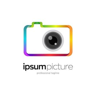 Design del logo della fotocamera e della fotografia