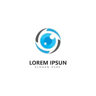 Modello di vettore dell'icona del logo della fotografia della fotocamera