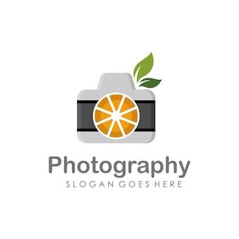 Fotocamera e fotografia logo illustrazione pieno