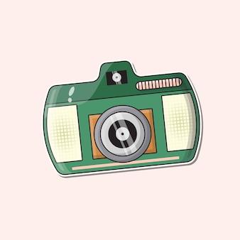 Logo della fotografia della fotocamera vettore premium