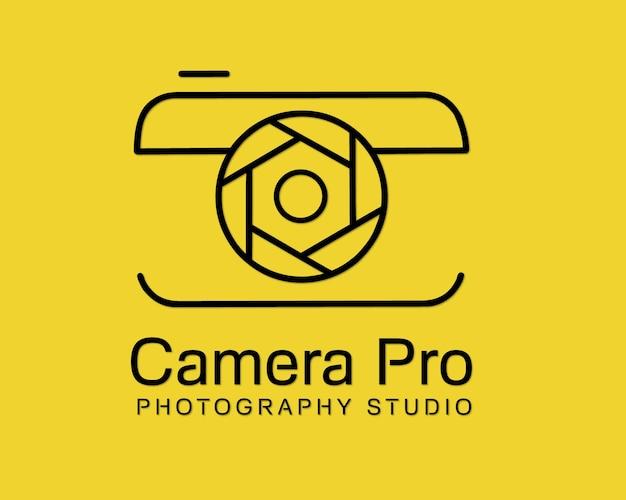 Vettore di progettazione del modello di logo della fotocamera pro