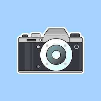 Design piatto per l'illustrazione vettoriale della fotocamera