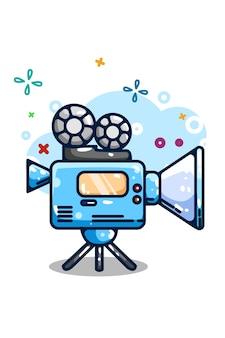 Fotocamera illustrazione video disegno a mano