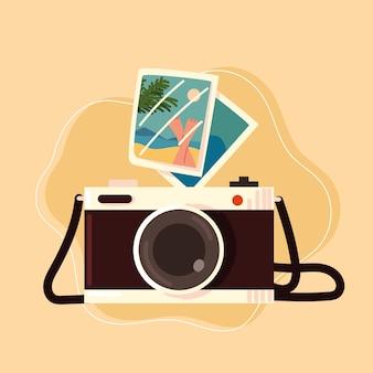 Fotocamera con foto