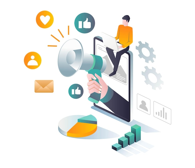 Campagna con strategia sui social media