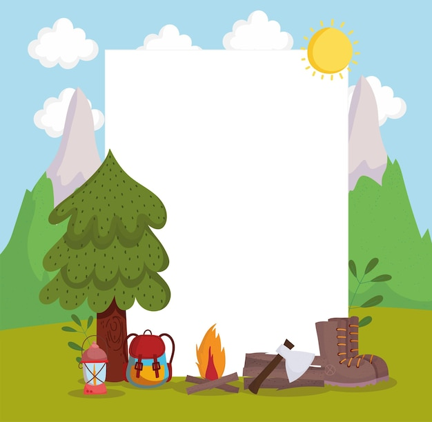 Carta avventura in campeggio