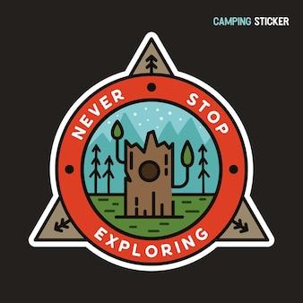 Disegno adesivo avventura campeggio