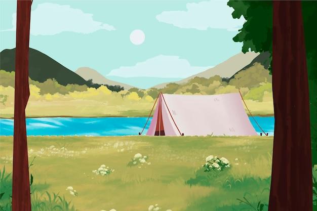 Paesaggio dell'area di campeggio