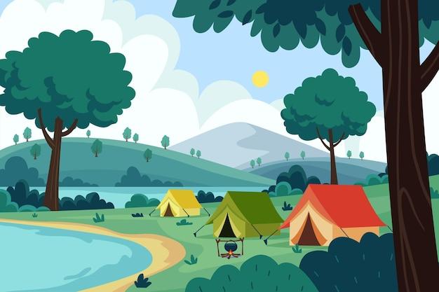 Area di campeggio natura paesaggio