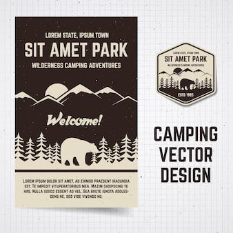 Opuscolo ed etichetta del campeggio.