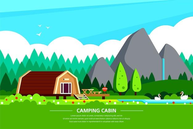Banner di noleggio cabina da campeggio