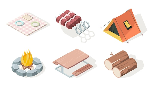 Set di attrezzature da campeggio