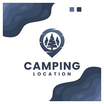 Progettazione di logo di posizione di campeggio
