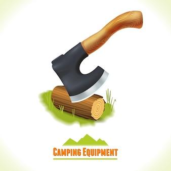 Simbolo del campeggio ascia