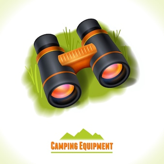 Simbolo di campeggio binoculare