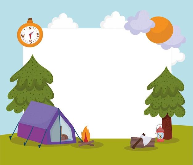 Carta del turismo in campeggio