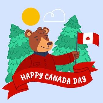 Illustrazione di giorno del canada