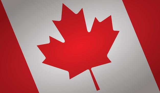 Forma dell'angolo della bandiera del canada