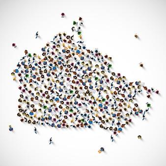 Canada molte persone firmano la mappa. illustrazione vettoriale