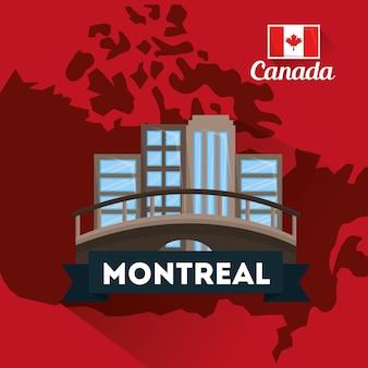 Mappa del ponte della costruzione della città montreal del canada