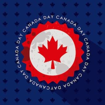 Emblema patriottico di pizzo canadese