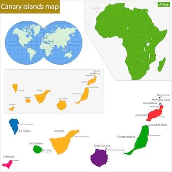 Mappa delle isole canarie