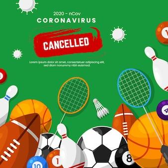 Sfondo di eventi sportivi annullato