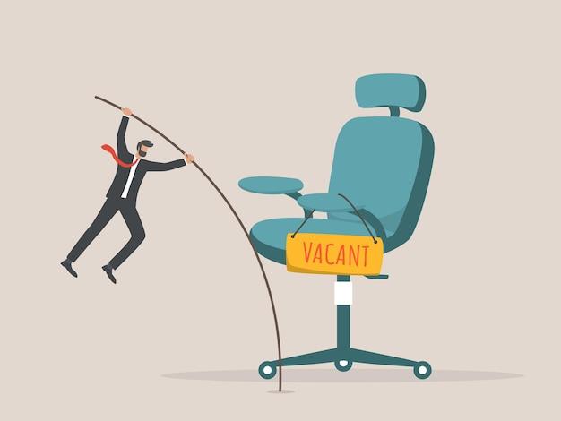 Candidato alla ricerca di lavoro Vettore Premium