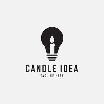 Candela idea logo concetto illustrazione vettoriale