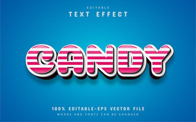 Effetto di testo modificabile 3d candy