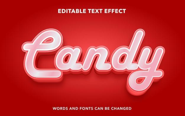 Stile effetto testo modificabile caramelle