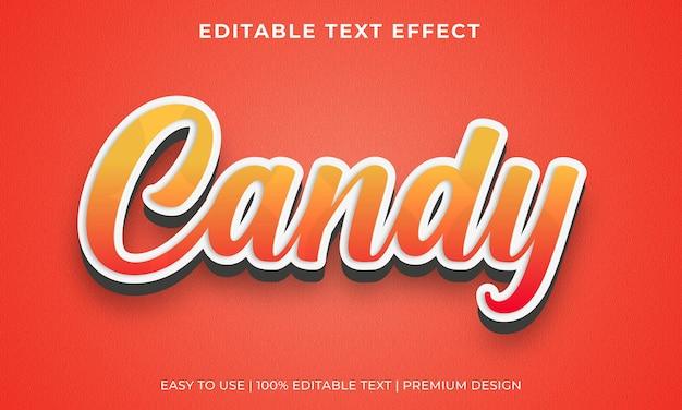 Effetto testo modificabile caramelle