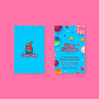 Modello di biglietto da visita della fabbrica di caramelle