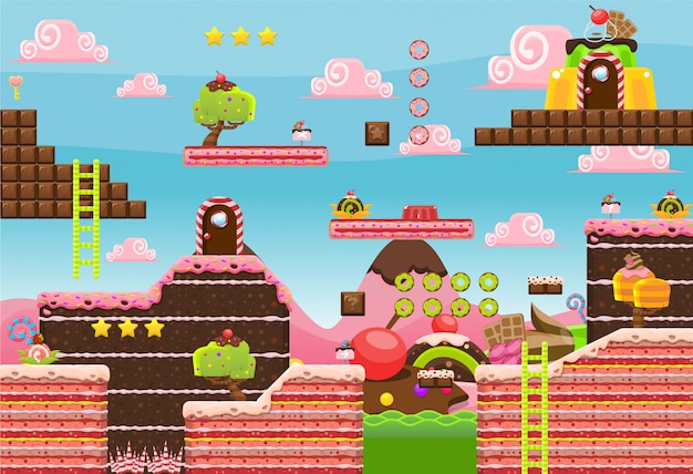 Candy land gioco tileset